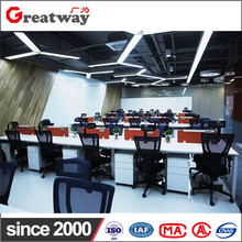 Modern cubicle customized size material office interior design desk