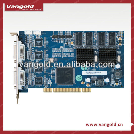 8ch H.264 realtime DVR Card with dual encoding stream Video loss and Video block.(DH-VEC1604LC)