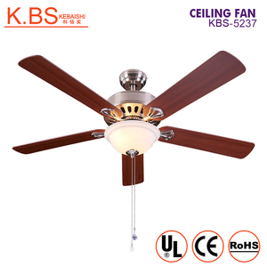 Decorative Lamp 5 Plywood Blades Ceiling Mounted Double Ceiling Fan With Light