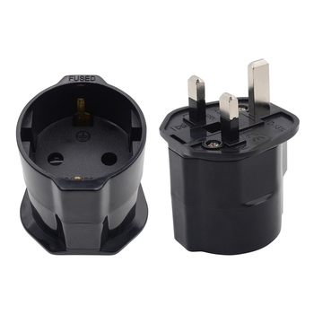 Yuadon Schuko adapter to UK plug with fuse European electrical plugs sockets 13A 250V
