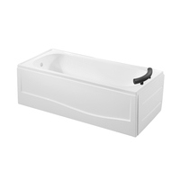 White Acrylic Double Apron Bathroom Japanese Soak Tub Skirt Tub K-3316