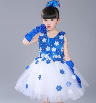 01ca652e3 Kids Clothes Flower Baby Girl Summer Dress Children party wear dresses for  girls of 2-