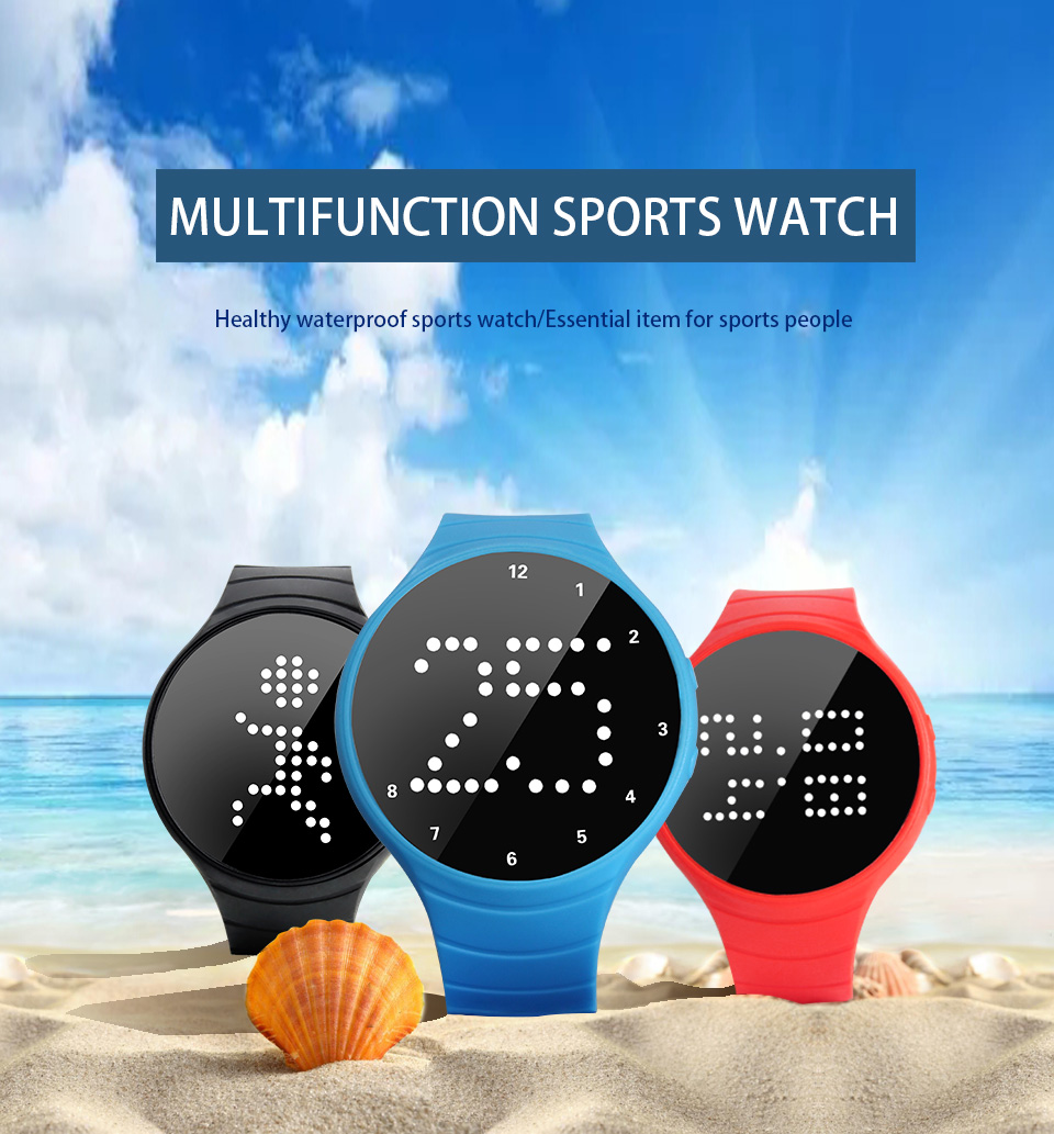 Waterproof 3d pedometer sport watch with stopwatch function wrist watch with game