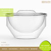 2014 Double Layer Glass Heat Resistant Food Container with Lid