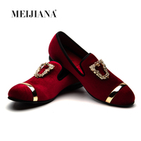 MEIJIANA Loafers Men Velvet Shoes Black Designer Mens Smoking Slippers Male Wedding and Party Loafers Dress Shoes