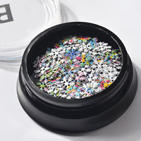 3d Colorful Glitter Nails Slice With Christmas Snowflake Series For Nail Art Sequins Decoration Fashion Accessories