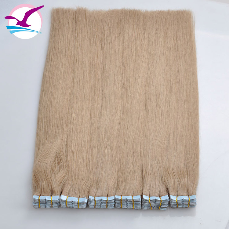 Hot Koop Langdurige Blonde Kleur Maleisische Tape Hair Extensions, 100% Virgin Human Hair