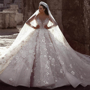 Luxury Crystal Wedding Dresses Turkey Istanbul Guangzhou Manufacturer Long  Tail Ball Gown Wedding Dress For Women - Buy Luxury Wedding Dress,Guangzhou
