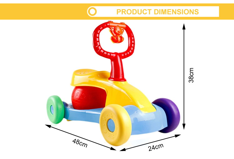 High quality jump music ride on cars bounce drive baby walker car
