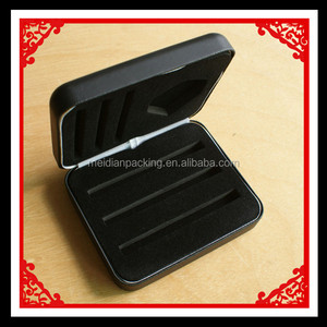 Black pu leather tin gift box display for darts with lid