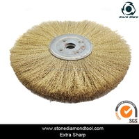 300mm Flate Brass Stainless Wire Cup Brush for Metal Remover Cleaning