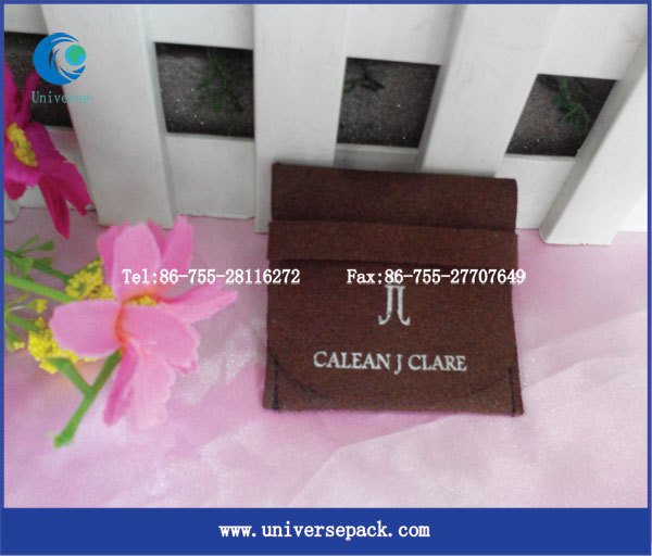 Wholesale Suede Jewelry Pouch Customized Jewelry Bag with Logo printing