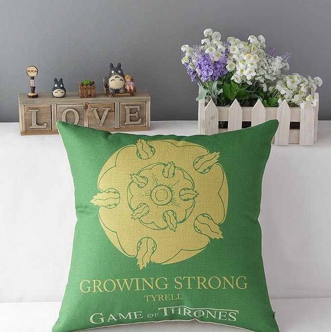 YZ-001 China Supplier Wholesale Game of Thrones Pillow Cases Cotton Linen Throw Pillow Case