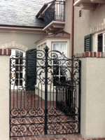 GYD-15G0093 Foshan factory cheap price wrought iron gates