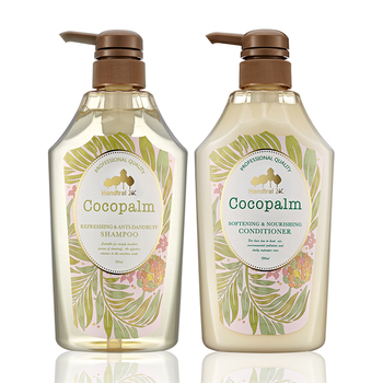 coconut palm refreshing 25.3 oz * 2 Silicone - free hair natural shampoo and conditioner natural herbal essential hair shampoo