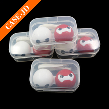 Mini Baymax Contact Lenses Case White And Red Contacts Container Wholesale Eyeglasses Box hot selling eyeglasses case