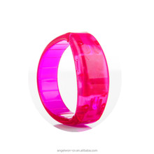 Sound activated LED bracelet pvc bracelet sound control flashing wristband cheapest gifts supplies