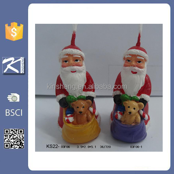 Unique christmas santa claus decorative candle