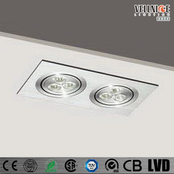Double Heads 2 3 1 Aluminium Edison Led Recessed Down Lighting Fixture R3b 0011 View Ceiling Mounted Light Fixtures Vellnice Product Details