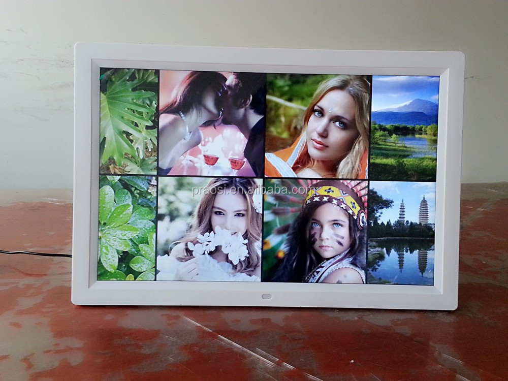 wifi digital photo frame loop video 1080p bluetooth 12 13.3 14 15 17 19 inch picture frame