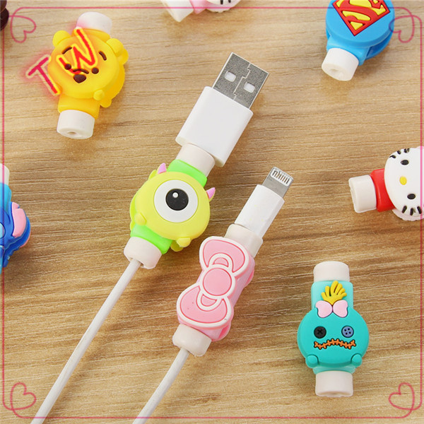 cable wire organizer,different earphone silicone cartoon cute strap winder for phone