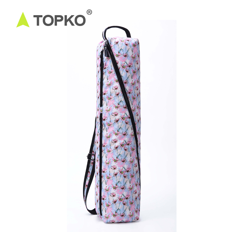 TOPKO Brand Wholesale New Design Yoga sets Large Volume Printed Exercise Yoga Mat Carry Bag