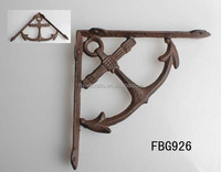 Cast iron decorative wall mount anchor bracket
