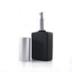 High quality 30ml 1 oz frosted matte black rectangular square glass perfume bottle with sprayer for essential oil serum oil