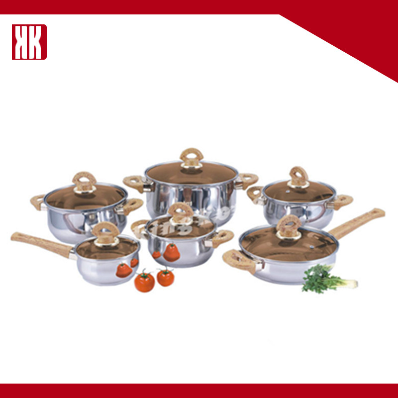 COOKS 12 Piece Stainless Steel Cookware Set Australia With Glass Lids