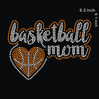 wholesale Basketball Mom Iron On Rhinestone Transfer Designs for t shirt