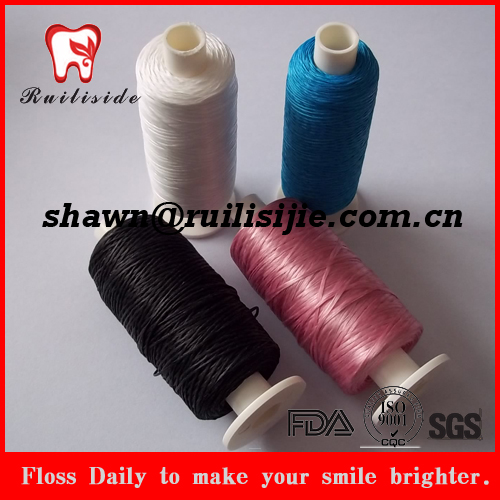 Colorful refilled polyester/UHMWPE floss yarn dental floss thread