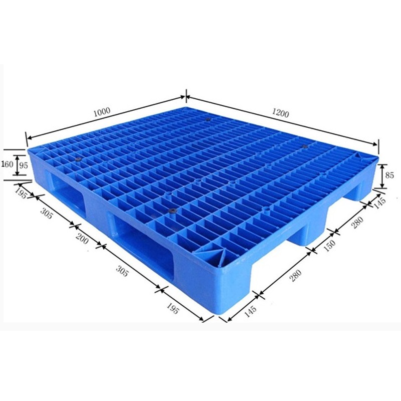 Light duty industrial hdpe recycled euro plastic pallet 1200 x 1000