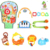 Funny 3 in 1 kid toy education activity gym baby play mat with bells and piano
