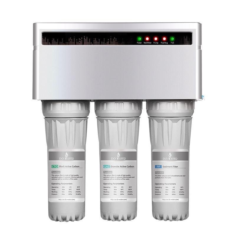 hot selling alkaline 5 6 stage 75G home use automatic flush RO reverse osmosis system water filter
