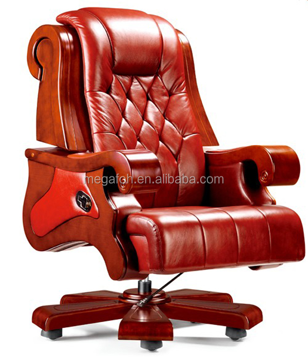 Many office chairs importers choice italy leather wood office chair ab-045 of guangzhou(FOHA-05)