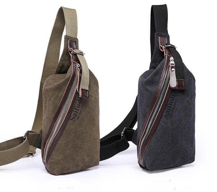 544a6dd9d3 Get Quotations · Single Zipper Designer men chest pack High Quality messenger  bag Canvas Men Crossbody bag Hiking Military
