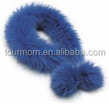 2016 New design Faux Fox Fur Collar / Trimming / Raccoon Fur Strip For Jacket Hood