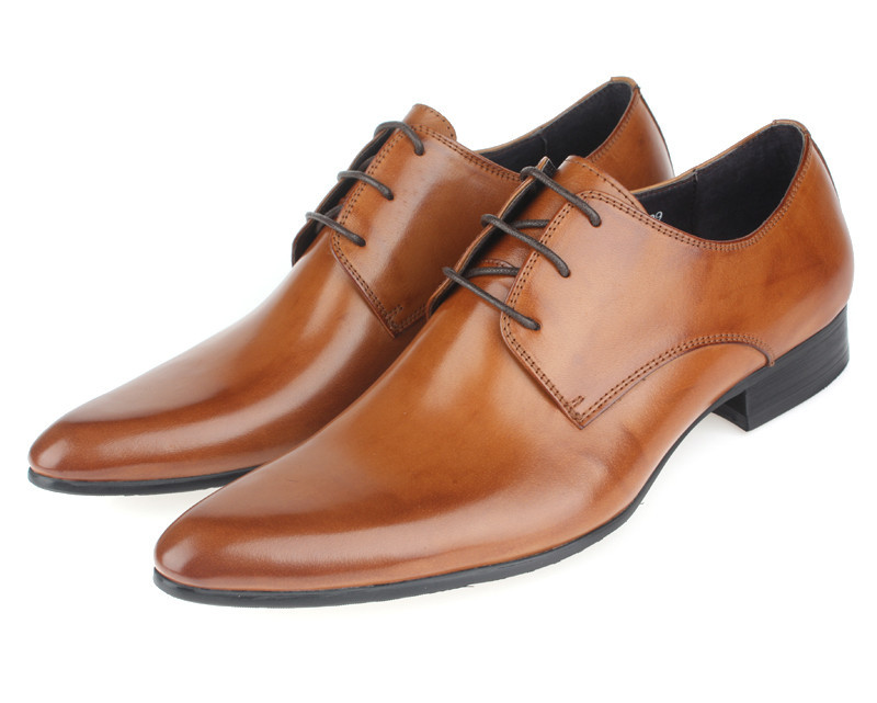 Buy Hot Sale 2015 Brown Mens Oxford Shoes Mens Wedding Shoes