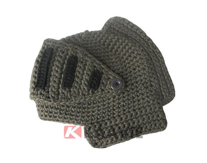 Knight Helmet Hat Free Knitted Pattern - Buy Crochet ...