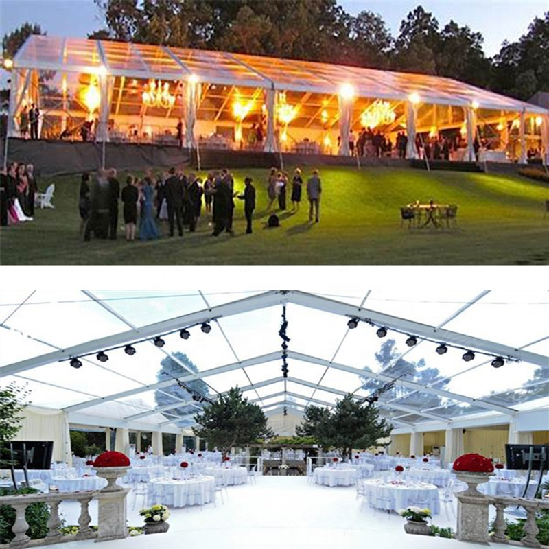 Cheap and High Quality Glass Marquee Large Span Wedding Party Tent for Sale