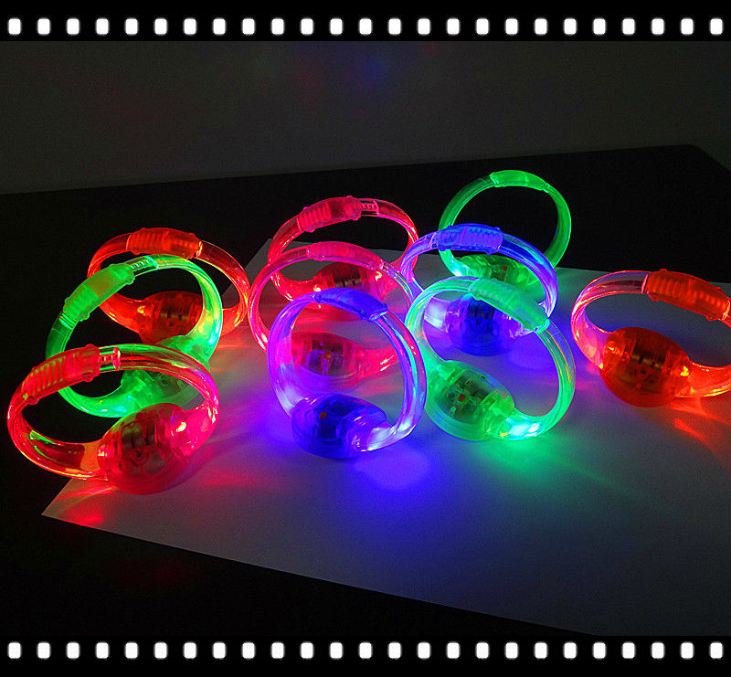 Sound Activated Light-up Bracelet LED Flashing Bracelet for party,concert,and doing sports