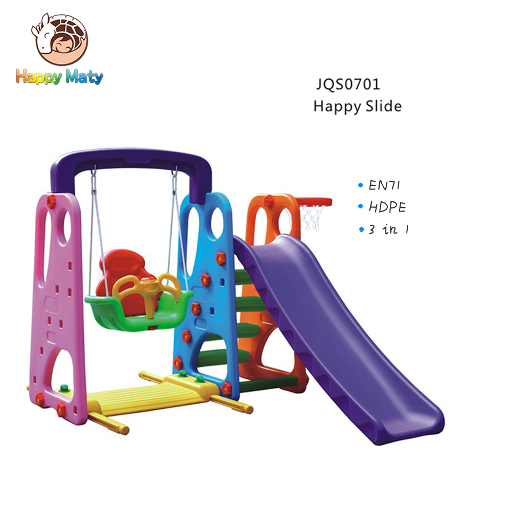 Toddler Indoor Playground Equipment Children Plastic Slide Small Kids Swing Set