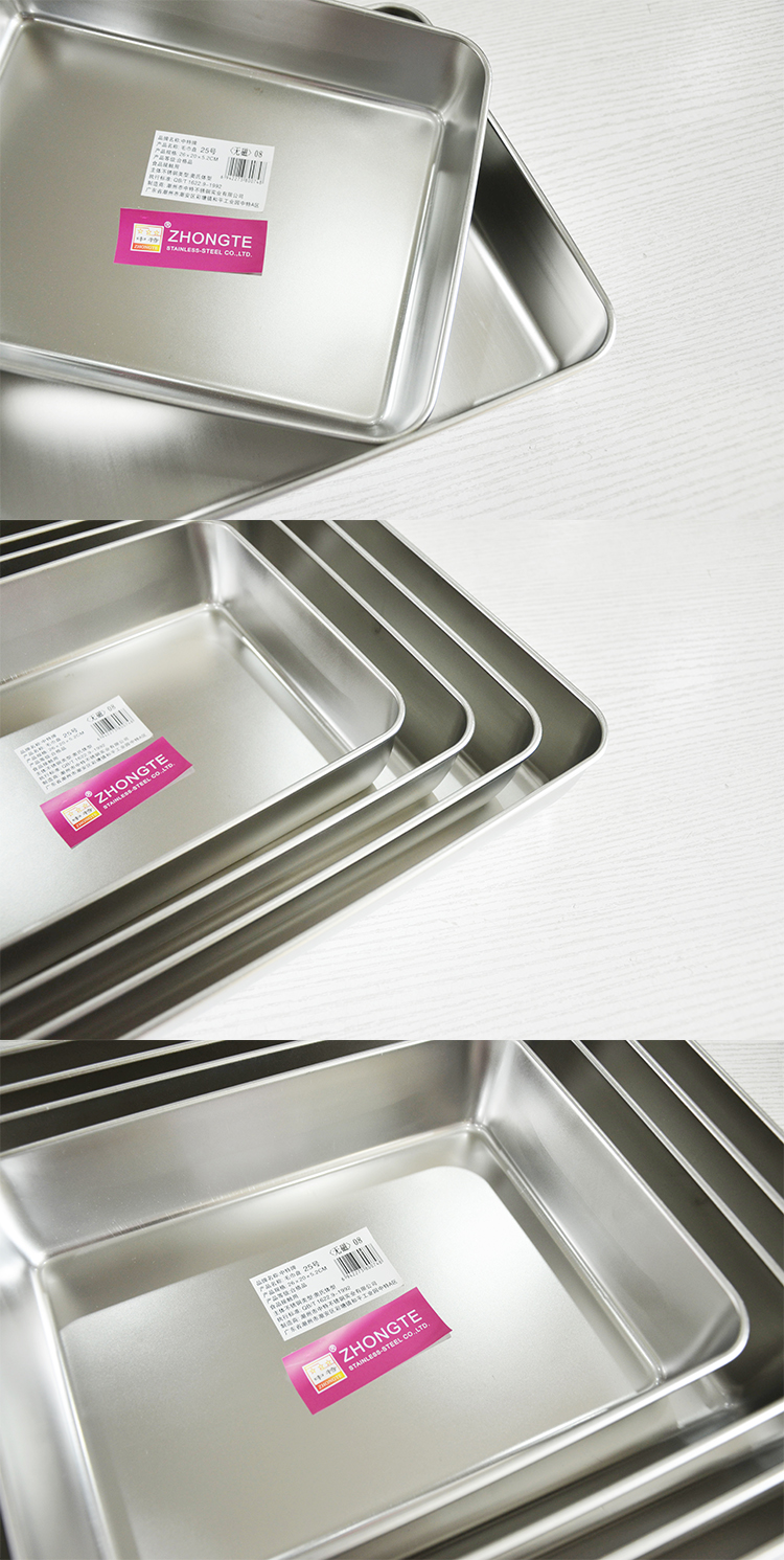 Wholesale Factory Direct selling Stainless Steel Deep Squared Towel Tray , Stainless Steel Serving Tray
