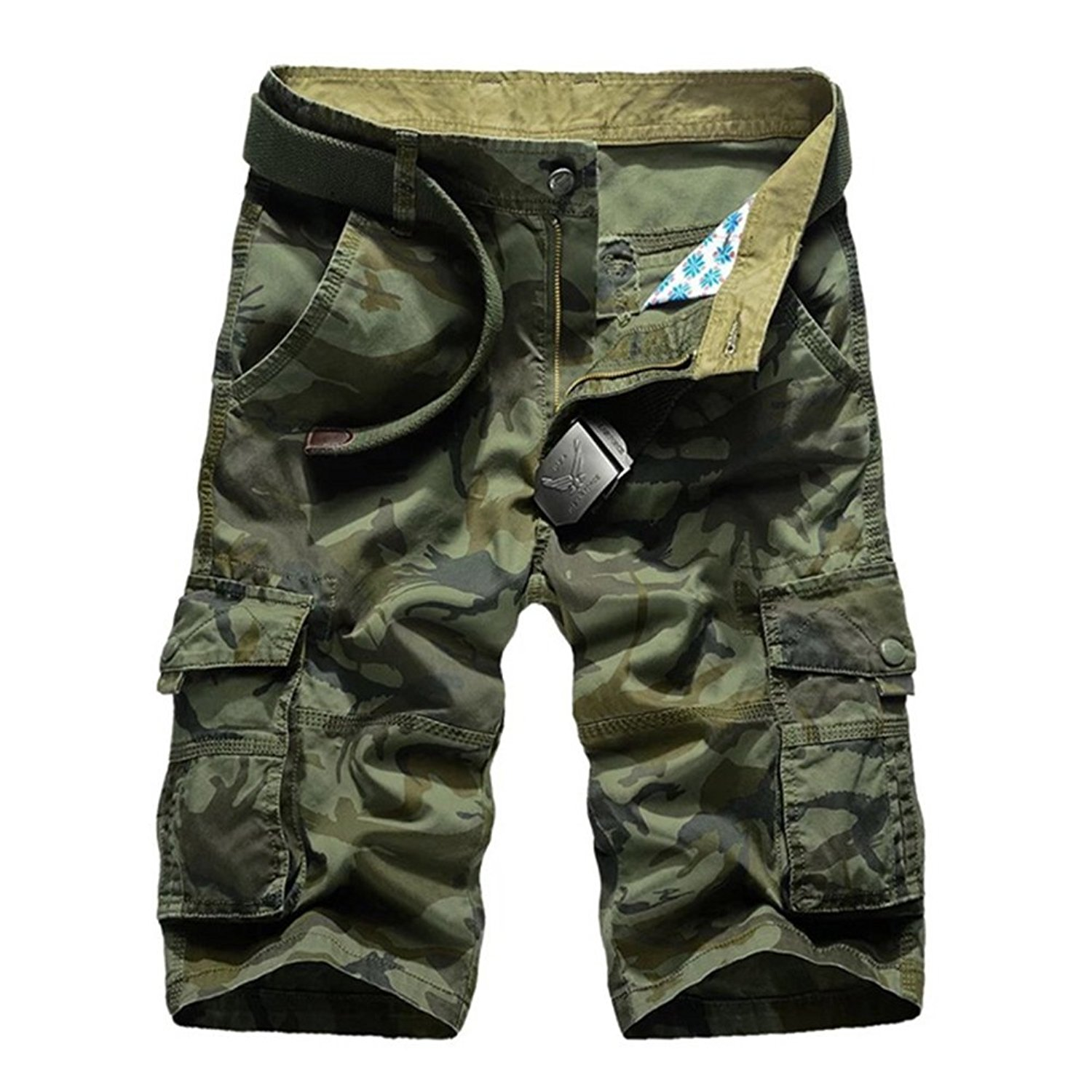 48020a3ff167 Get Quotations · Black Star New Summer Camouflage Shorts Men Casual Cotton Cargo  Short Pants Baggy Military camo Shorts