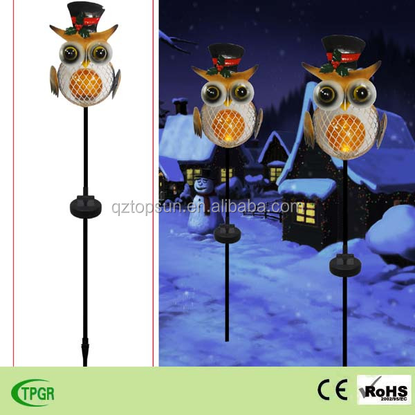 Christmas Decoration Owl Solar Garden