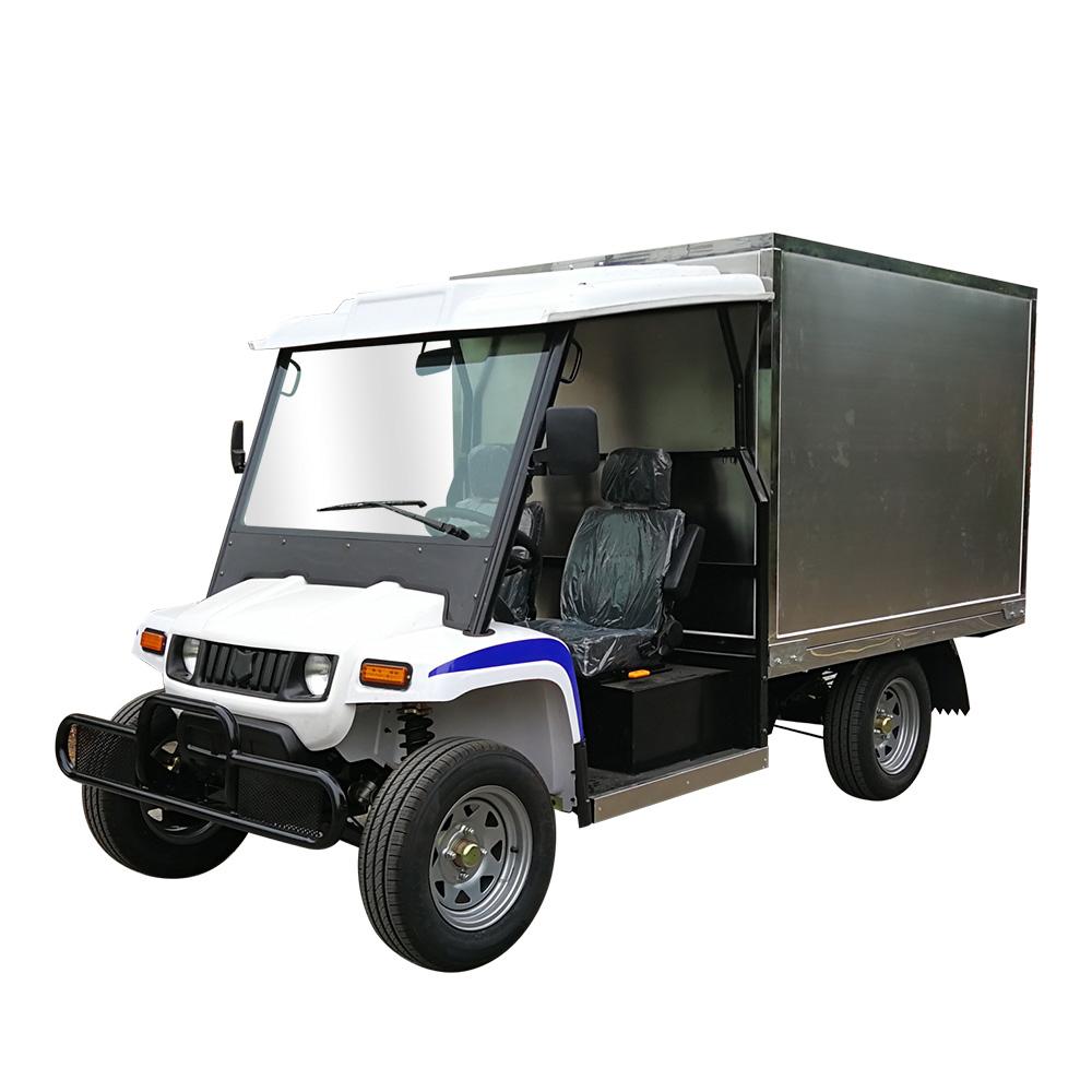 Design moderne 4 roues 2 places électrique fourgon de cargaison plate camion