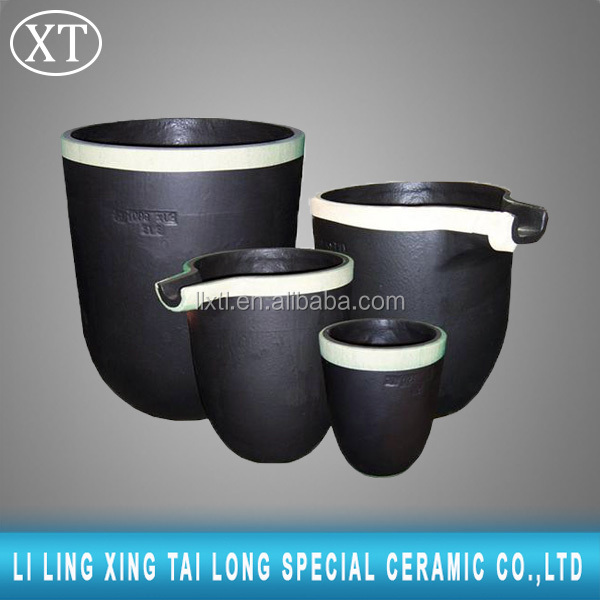 graphite crucible for melting copper/induction furnace graphite crucible