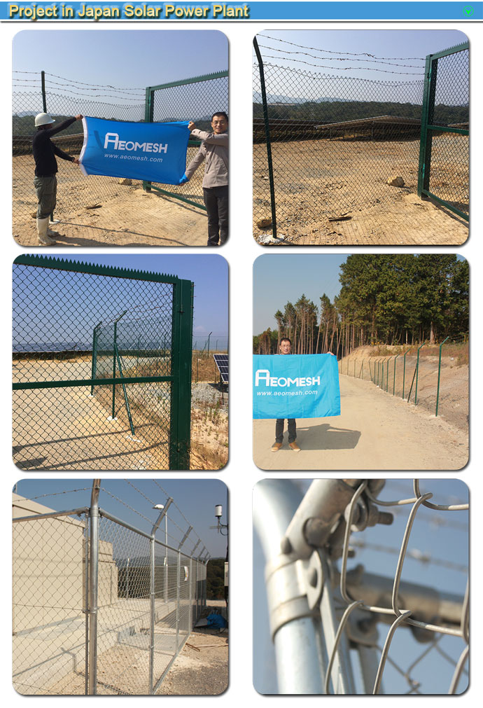 High quality chain Link fence panels and gate/ring networking/chain net for school(ISO9001&Exporter)