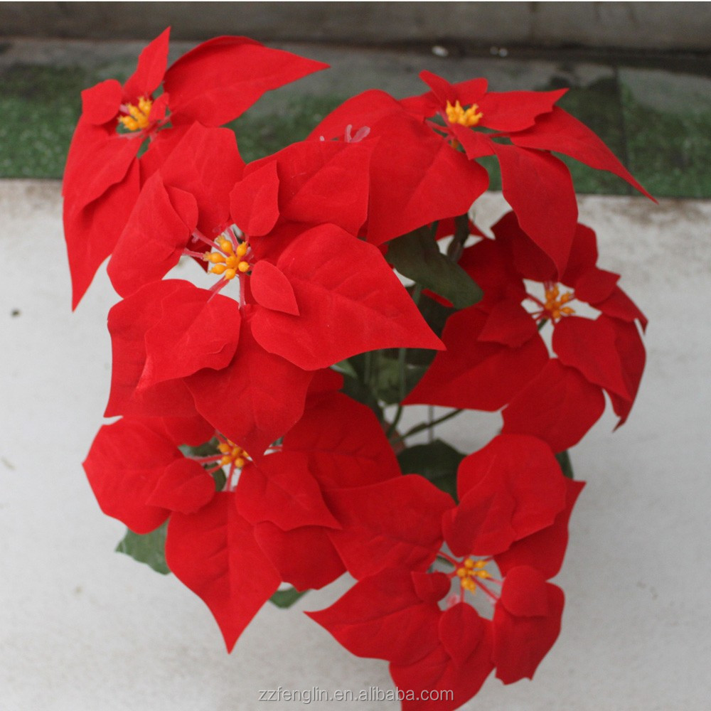 Wholesale artificial poinsettia flowers wholesale artificial wholesale artificial poinsettia flowers wholesale artificial poinsettia flowers suppliers and manufacturers at alibaba izmirmasajfo Image collections