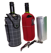 Rubber Foam Wine Bag Beer Bottle Cooler & Ice Chiller Freezable Carrier